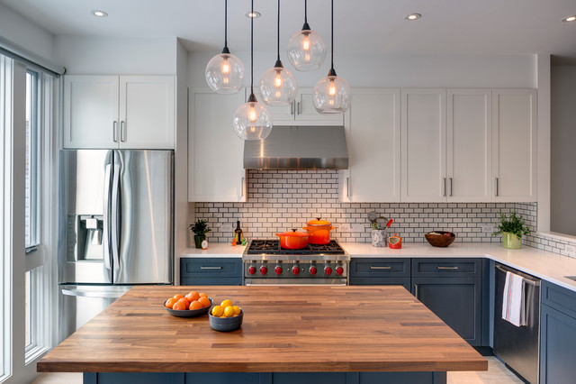 Sunset park brooklyn rowhouse transitional kitchen new york