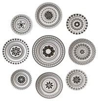 Black Decorative Plates Prepossessing Black White ...