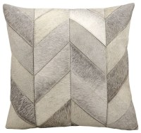 Shop Houzz | Cow Hair Chevron Decorative Pillow ...
