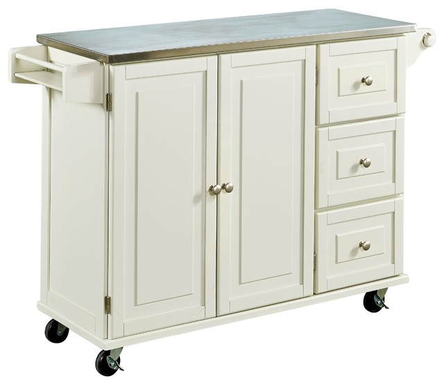 stainless steel top white traditional kitchen islands kitchen furniture cambridge stainless steel top kitchen island white