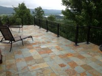 Interlocking slate deck tiles - Contemporary - Patio ...
