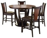 Steve Silver Oakton Piece Round Counter Table Set In Black And