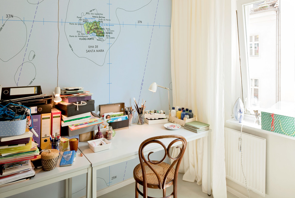 Home Office Berlin Santa Maria - Eclectic - Home Office - Berlin - By Extratapete