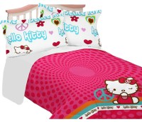 Sanrio Hello Kitty Full Comforter Set Peace Sign Bedding ...