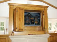 Fireplace & TV Cabinet w Pocket doors - Traditional ...