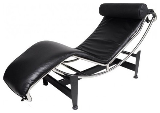 Le Corbusier Lc4 Style Lounge Chair Aniline Leather