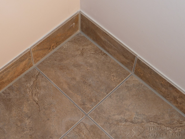 Caulked Baseboard joints - Modern - Bathroom - Vancouver - by 3D - bathroom baseboard ideas