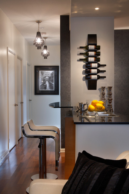 Soho Condo Toronto Contemporary Home Bar Toronto By Lux Design - Home Bar Furniture Toronto