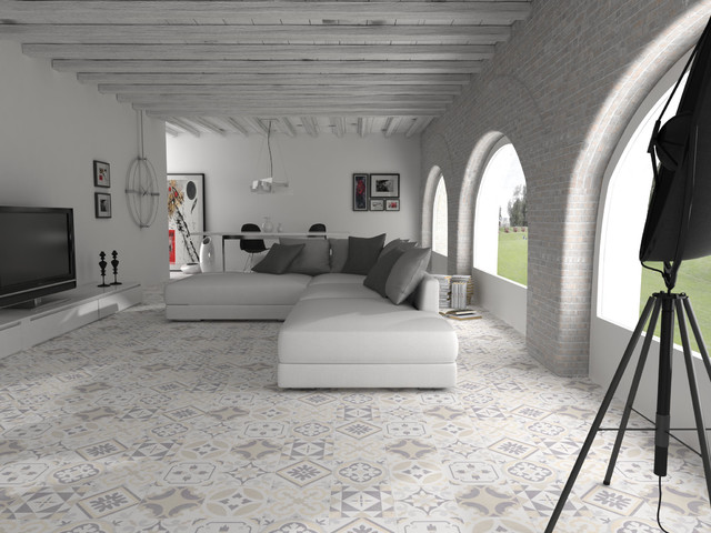 Open plan Moroccan style living space - Walls and Floors - moroccan style living room