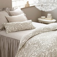 Pine Cone Hill Imperial Damask Platinum Duvet Cover ...