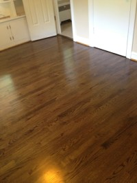 Red Oak Wood Floors with Jacobean Stain