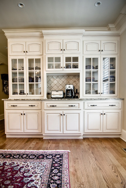 Classic Kitchen Cabinets Inc China Hutch With Painted Finish And Glazed - Traditional