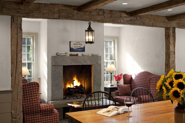 Antique Farmhouse Kitchen Fireplace Farmhouse Living