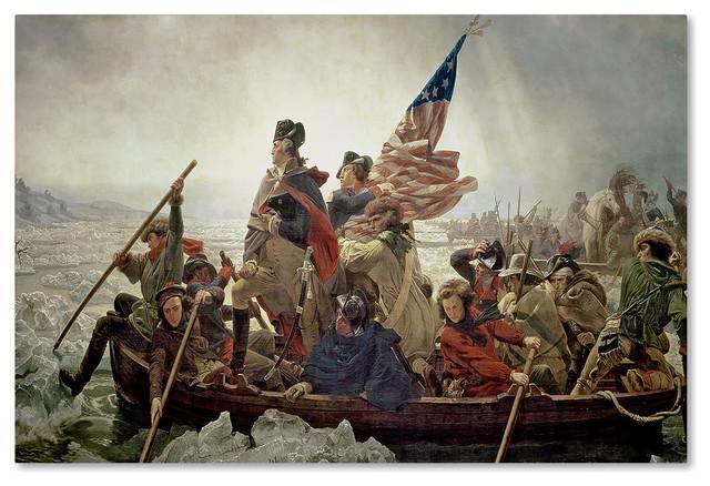 Washington Crossing Delaware River in 1776\u0027 Canvas Art by Emanuel