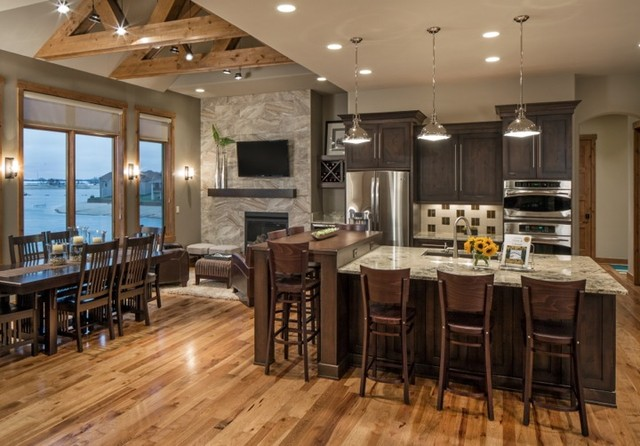 Rustic Modern Lake House - Transitional - Kitchen - Omaha - by - lake house kitchen ideas