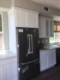 Crown molding on shaker style cabinets
