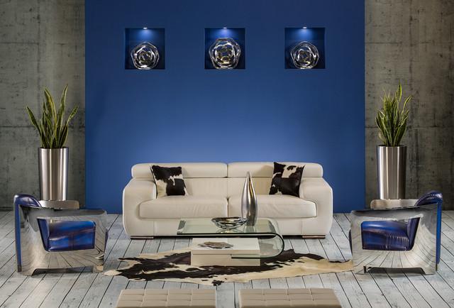 The Grace White Sofa - Modern - Living Room - Miami - by El Dorado - el dorado living room sets