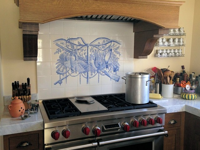 tile mural traditional kitchen hand painted tile donna kitchen backsplash design hand painted tiles