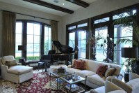 The Woodlands Rustic - Traditional - Living Room - Houston ...