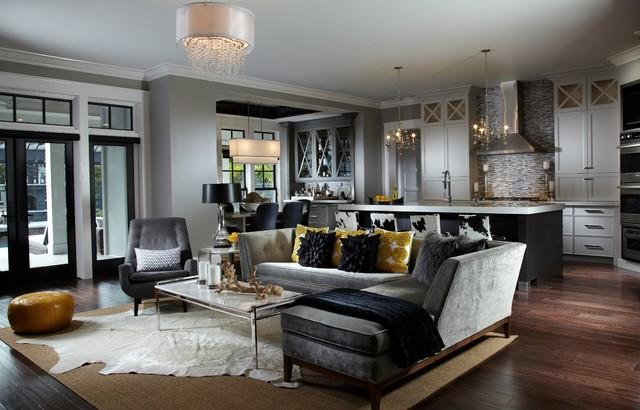 Leach Residence Transitional Living Room