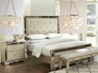 Gold or Silver Chandelier for this Bedroom Set-?