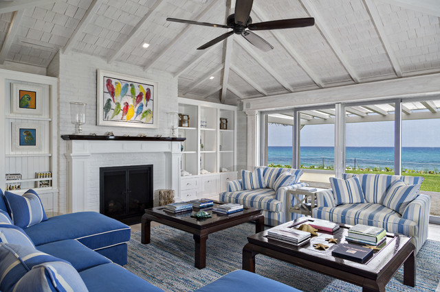 Florida Beach Cottage - Beach Style - Living Room - Miami - by - beach style living room