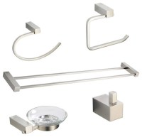 Ottimo 5 Piece Bathroom Accessory Set, Brushed Nickel With ...