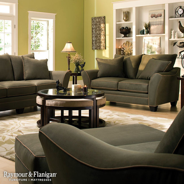 Briarwood Microfiber Collection - raymour and flanigan living room sets