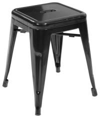 Modern Black Mini Bar Stool - Industrial - Bar Stools And ...