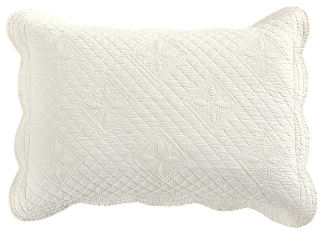 Calla Angel Sage Garden Luxury Pure Cotton Quilted Pillow