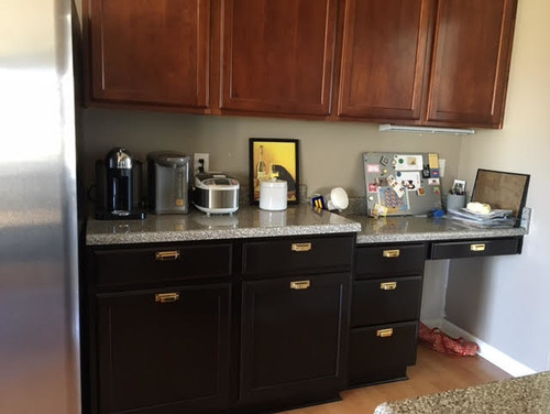 Replacing Kitchen Desk With Cabinets Need Help To Convert Kitchen Desk To Counter...