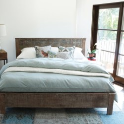 Reclaimed Wood Modern Platform Bedroom