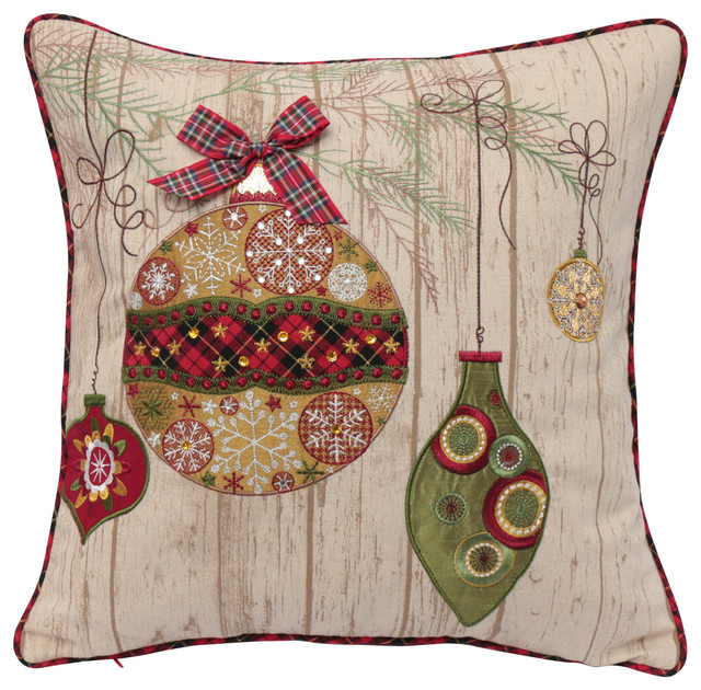Ornament Christmas Pillow - Contemporary - Decorative Pillows - by - decorative christmas pillows