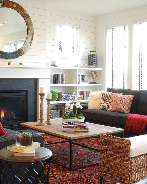 Modern Farmhouse Spring Parade of Homes House - farmhouse living room furniture
