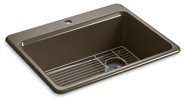 Kohler Riverby Top Mount Single Bowl Kitchen Sink 27quotx22