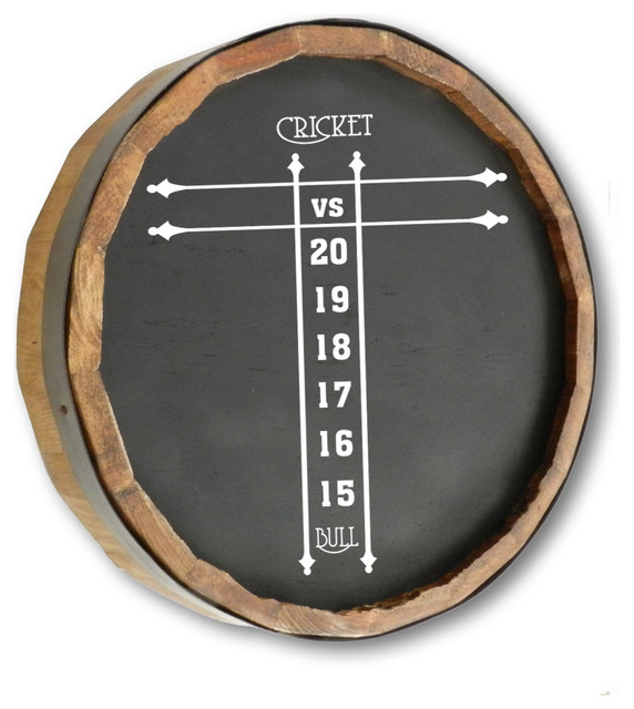 1000 Oaks Barrel Co Cricket Score Sign - Traditional - Bulletin