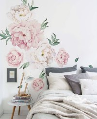 Peony Flowers Wall Sticker - Contemporary - Wall Decals ...