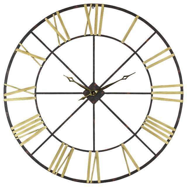 Baldwin Oversized Metal Wall Clock, 48 - living room clock