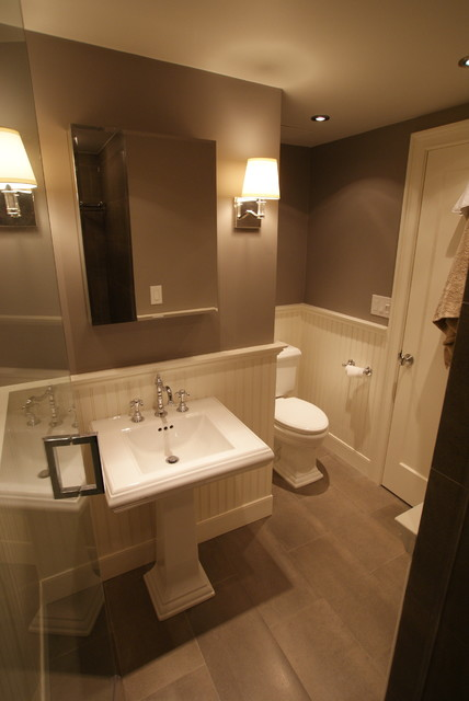 Bathroom Wainscoting Height Small Bathroom - Contemporary - Bathroom - Boston - By