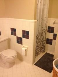 Help making ugly bathroom tile work.
