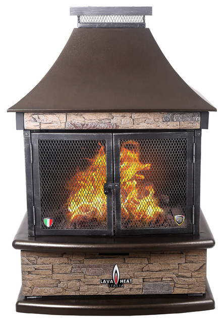 Lorenzo Liquid Propane Gas Outdoor Fireplace Heritage