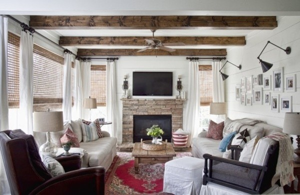 Modern Country Living Room - Eclectic - Living Room - Atlanta - by - modern country living room
