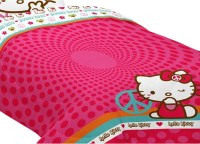 Sanrio Hello Kitty Full Bed Comforter Peace Sign Bedding ...