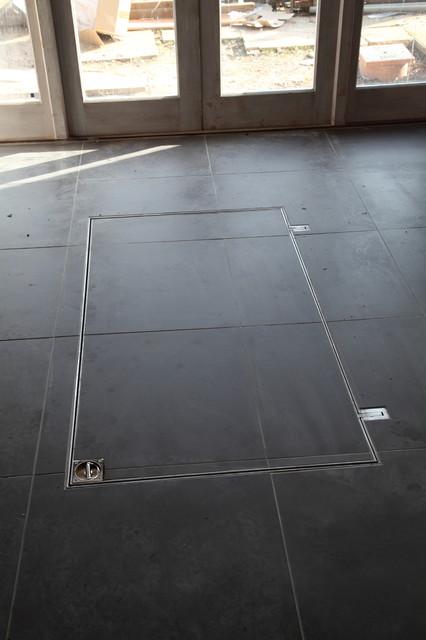Modular Concrete Wine Cellar Contemporary Basement