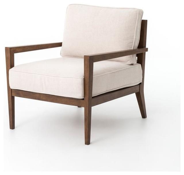 Four Hands Kensington Laurent Wood Frame Accent Chair - Living - accent living room chair