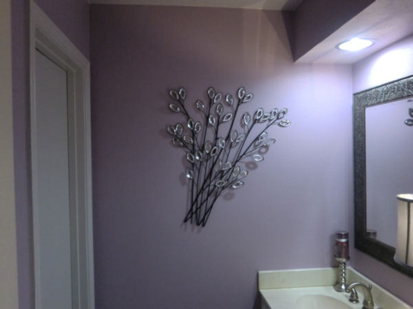 Luxurious Lavender Lavatory Modern Bathroom Houston