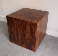Mid century modern rosewood storage cube/end table ...