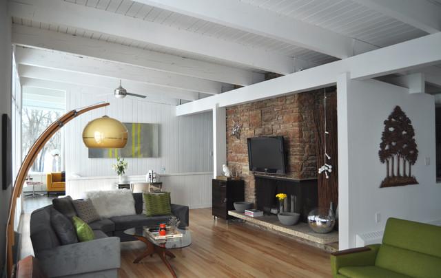 1958 Mid Century Modern Living Room Remodel - Midcentury - Living - living room remodel