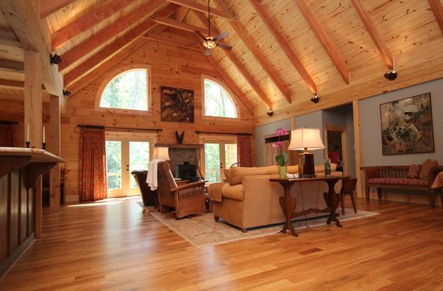 MONTPELIER LOG CABIN - Rustic - Living Room - Richmond - log cabin living rooms