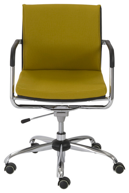 Eurostyle Baird Office Chair In Mustard Yellow Chrome